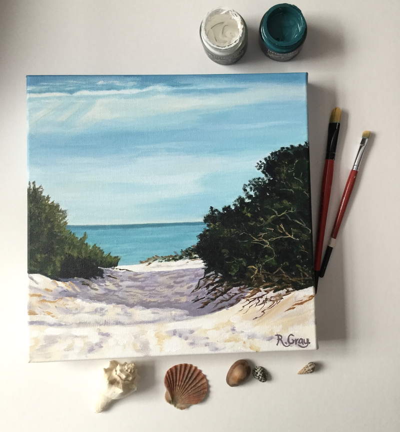 (CreativeWork) One  Perfect Day by Robyn Gray. Acrylic Paint. Shop online at Bluethumb.