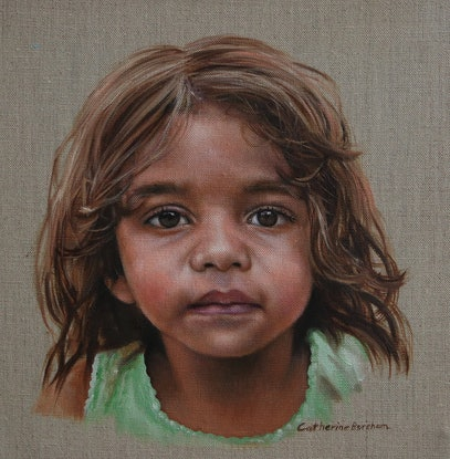 "(CreativeWork) ""Childlike faith.""  by CATHERINE BOREHAM. Oil Paint. Shop online at Bluethumb."