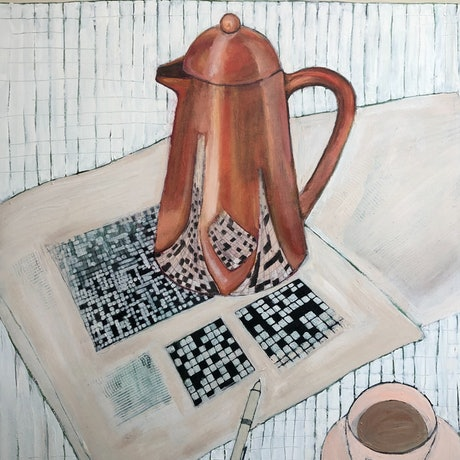 (CreativeWork) Saturday Morning by Bronwen Hunt. Oil Paint. Shop online at Bluethumb.