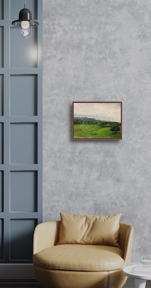 (CreativeWork) Private Land by Dylan Cooper. Acrylic Paint. Shop online at Bluethumb.