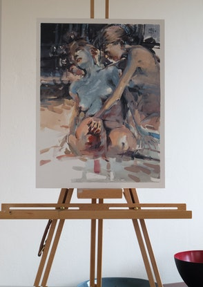 (CreativeWork) Bathers of Avignon 2 by Tony Belobrajdic. Other Media. Shop online at Bluethumb.