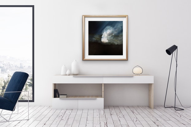 (CreativeWork) January by Annie Hawkins. Oil Paint. Shop online at Bluethumb.