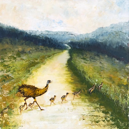 (CreativeWork) Quickly Now - Single File by Madeleine Elkin. Oil Paint. Shop online at Bluethumb.