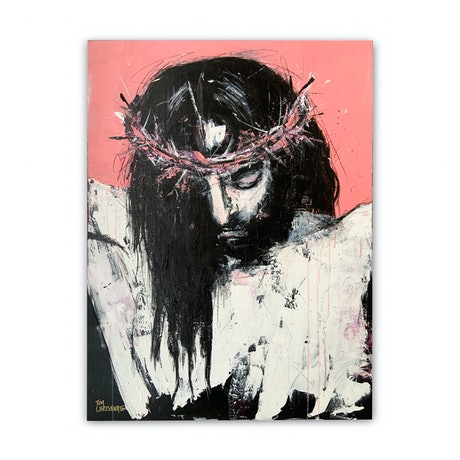 (CreativeWork) Jesus - it is finished by Tim Christinat. Acrylic Paint. Shop online at Bluethumb.