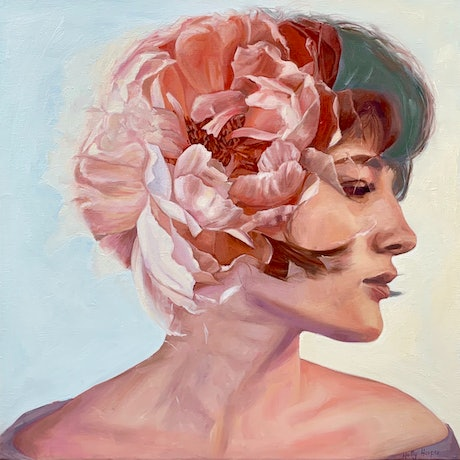 (CreativeWork) Beautiful Mind  by Holly Harper. Oil Paint. Shop online at Bluethumb.