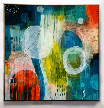 (CreativeWork) Attention's Sweet Centre by Amanda Ketterer. Mixed Media. Shop online at Bluethumb.