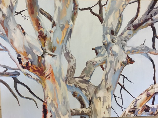 (CreativeWork) Branching out (New Beginning) by Julia Greenham. Acrylic Paint. Shop online at Bluethumb.