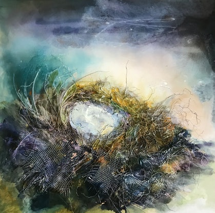 (CreativeWork) The Darklings nest 2 by Meg Lewer. Mixed Media. Shop online at Bluethumb.