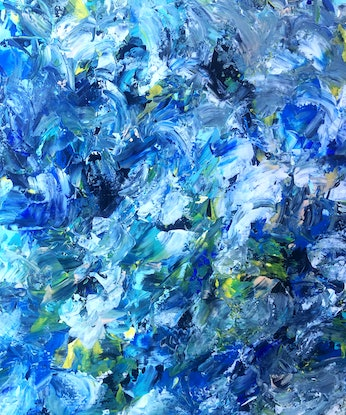 (CreativeWork) Number 70 by Estelle Asmodelle. Acrylic Paint. Shop online at Bluethumb.