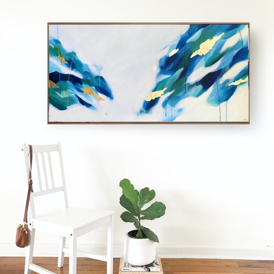 (CreativeWork) Sounds Of The Sea by Marnie McKnight. Acrylic Paint. Shop online at Bluethumb.