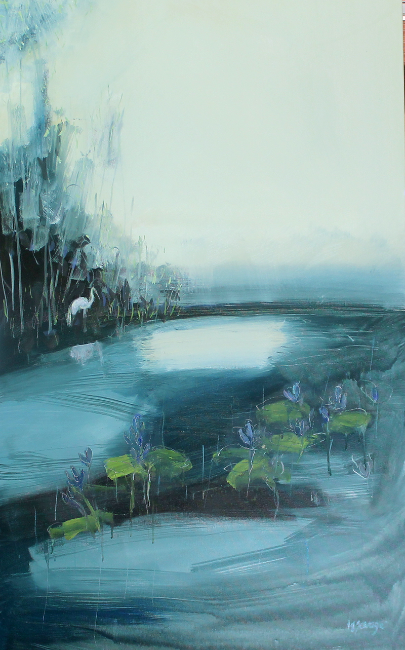 (CreativeWork) Stillness by Heidi Savage. Oil Paint. Shop online at Bluethumb.