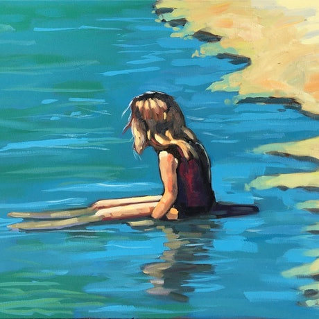 (CreativeWork) Summer Daze by sara bell. Oil Paint. Shop online at Bluethumb.