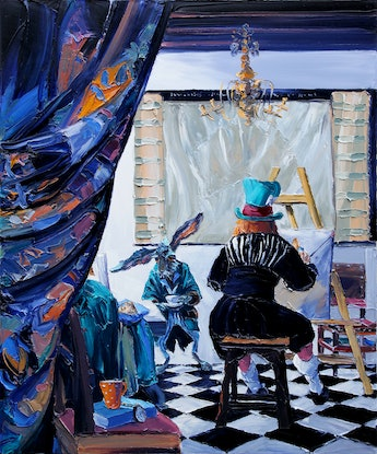 (CreativeWork) In This Style 10/6 (After 'The Art Of Painting' by Jan Vermeer) Ed. 2 of 100 by Steve Tyerman. Print. Shop online at Bluethumb.
