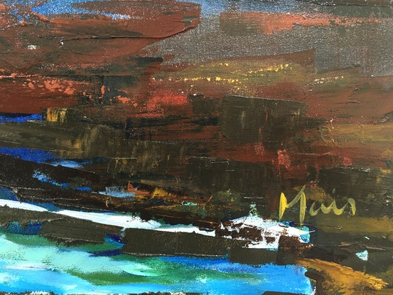 (CreativeWork) Offshore2 by Liz Muir. Oil Paint. Shop online at Bluethumb.