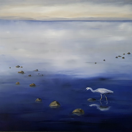 (CreativeWork) Altona dawn by Laurie Franklin. Oil Paint. Shop online at Bluethumb.