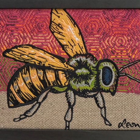 (CreativeWork) Bee (Rainbow) by Leon Fernandes. Mixed Media. Shop online at Bluethumb.