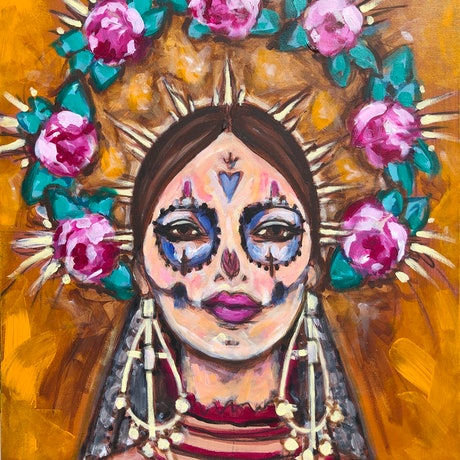(CreativeWork) Dios by Emily Bowen. Acrylic Paint. Shop online at Bluethumb.