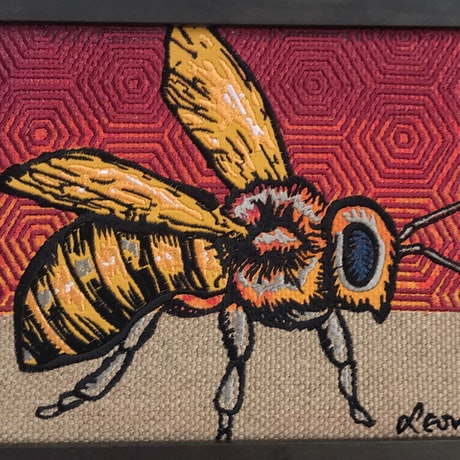 (CreativeWork) Bee (Sunset) by Leon Fernandes. Mixed Media. Shop online at Bluethumb.