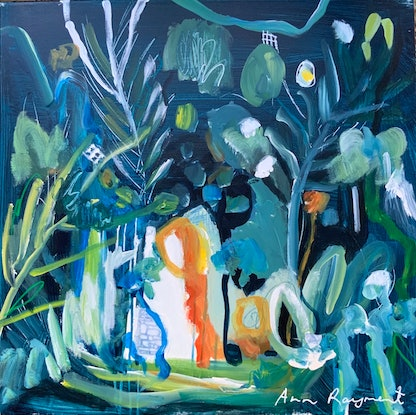 (CreativeWork) Tropical Dance 2 by Ann Rayment. Mixed Media. Shop online at Bluethumb.
