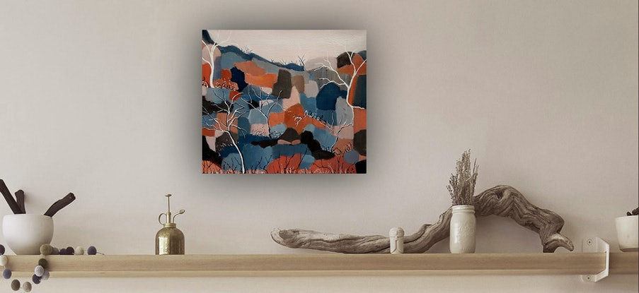 (CreativeWork) Rusty Ridge by Doodie Herman. Acrylic Paint. Shop online at Bluethumb.