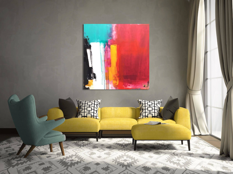 """(CreativeWork) """"When time stood still"""" by Connie krol ART. Acrylic Paint. Shop online at Bluethumb."""