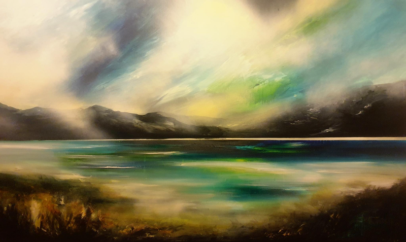 (CreativeWork) Mystic West by Alice Howell. Oil Paint. Shop online at Bluethumb.