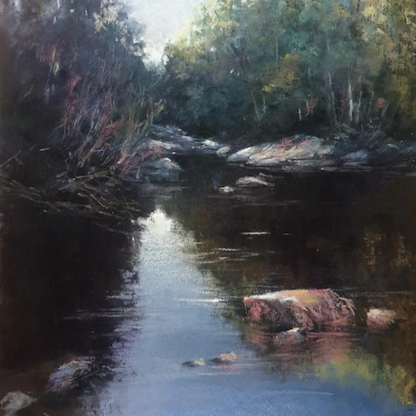 (CreativeWork) Cascade River Derby by Rachel Howell. Other Media. Shop online at Bluethumb.