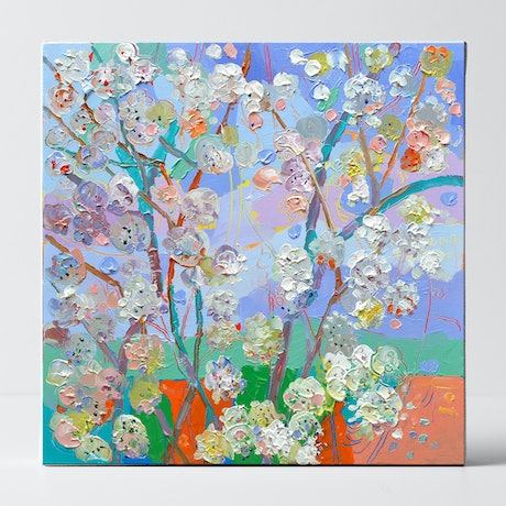 (CreativeWork) Spring Blossom - SALE by Joseph Villanueva. Acrylic Paint. Shop online at Bluethumb.
