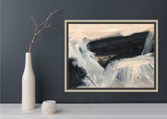 (CreativeWork) Finding the Coast by Alexandra Plim. Acrylic Paint. Shop online at Bluethumb.