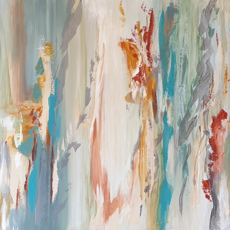 (CreativeWork) Australian Naturescape - Gum Trees #2 by Ruth Murfet. Acrylic Paint. Shop online at Bluethumb.