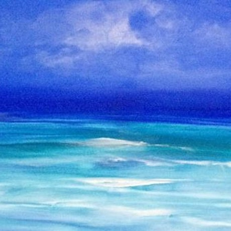(CreativeWork) Ocean Blue by Terina Jones. Acrylic Paint. Shop online at Bluethumb.