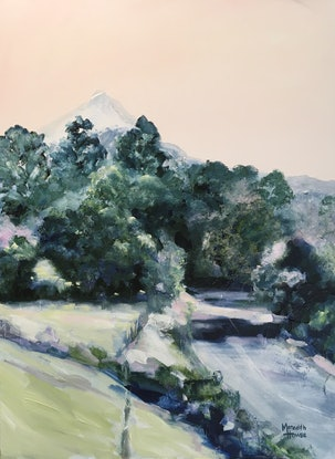 (CreativeWork) Road to Mount Warning by Meredith Howse. Acrylic. Shop online at Bluethumb.