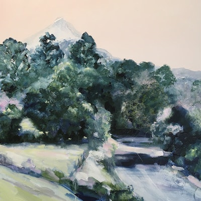 (CreativeWork) Road to Mount Warning by Meredith Howse. Acrylic Paint. Shop online at Bluethumb.