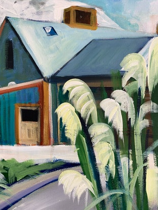 (CreativeWork) Spring in Glenorchy by Alison Pilcher. Acrylic Paint. Shop online at Bluethumb.