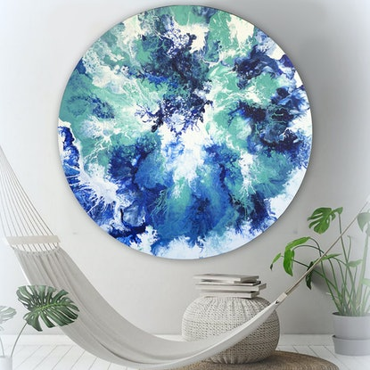 (CreativeWork) Ocean Wash by Brigitte Ackland. Acrylic Paint. Shop online at Bluethumb.