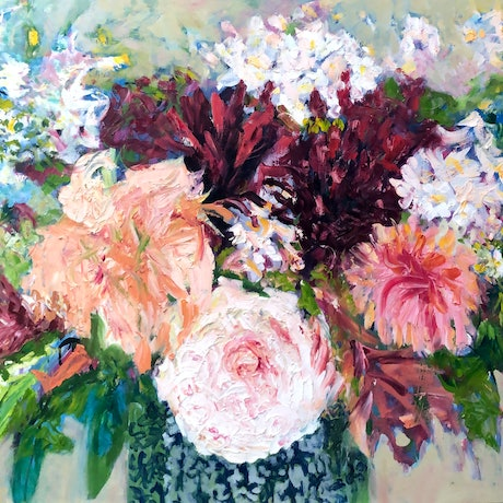 (CreativeWork) FERTILITY BOUQUET by Maureen Finck. Oil Paint. Shop online at Bluethumb.