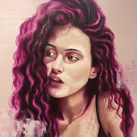 (CreativeWork) Angelique by Ashley Bunting. Oil Paint. Shop online at Bluethumb.