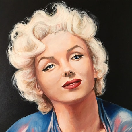 (CreativeWork) Channelling Norma Jean by Kathryn Johnston. Acrylic Paint. Shop online at Bluethumb.