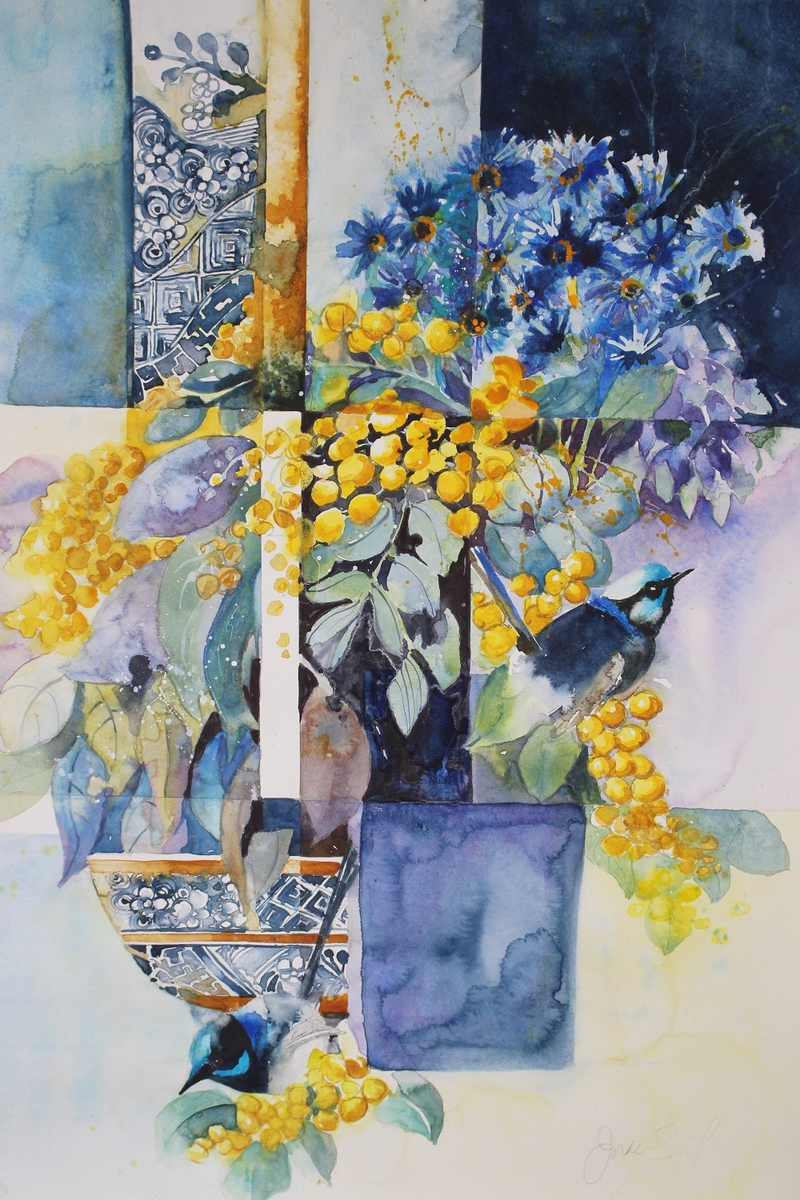 (CreativeWork) Colours of Summer by Jude Scott. Watercolour Paint. Shop online at Bluethumb.