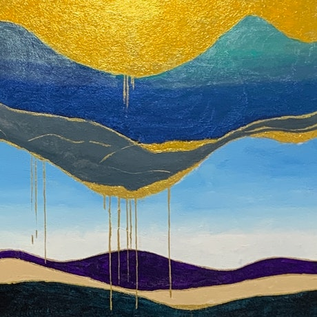 (CreativeWork) Golden crust by Tom Roso. Acrylic Paint. Shop online at Bluethumb.