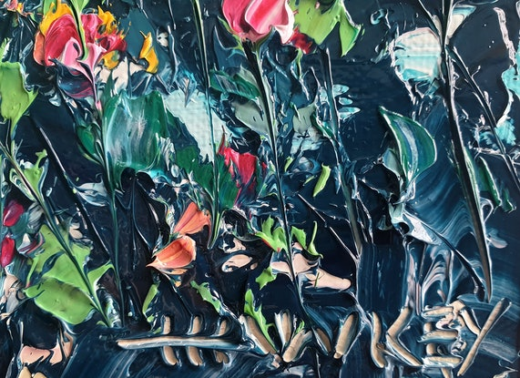 (CreativeWork) Song Of The Heart 5 by Angela Hawkey. Oil Paint. Shop online at Bluethumb.