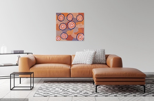 (CreativeWork) Kungkarangkalpa (Seven Sisters) 19-4165 by Nelly Patterson. Acrylic Paint. Shop online at Bluethumb.