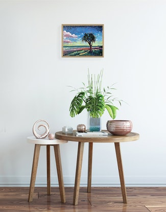 (CreativeWork) Beautiful Day by Michael Baker. Oil Paint. Shop online at Bluethumb.