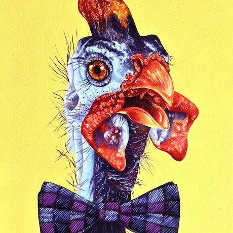 (CreativeWork) The Nutty Professor by Luna Vermeulen. Oil Paint. Shop online at Bluethumb.