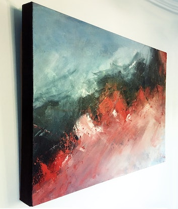 (CreativeWork) Crossfire Hurricane by David Clare. Oil Paint. Shop online at Bluethumb.