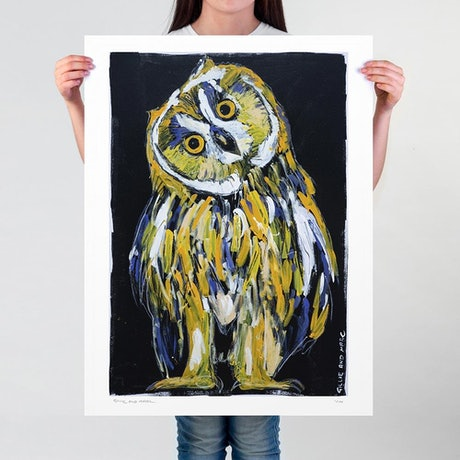 (CreativeWork) He was an owl who was wiser than all of us Ed. 1 of 100 by Gillie and Marc Schattner. Print. Shop online at Bluethumb.
