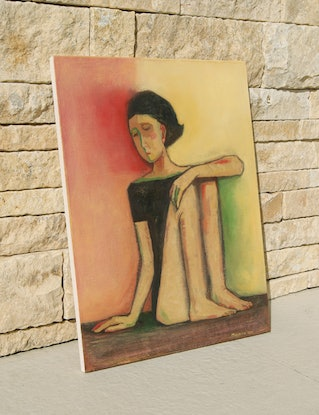 (CreativeWork) Yoga Day by Tetyana Khytko. Oil Paint. Shop online at Bluethumb.