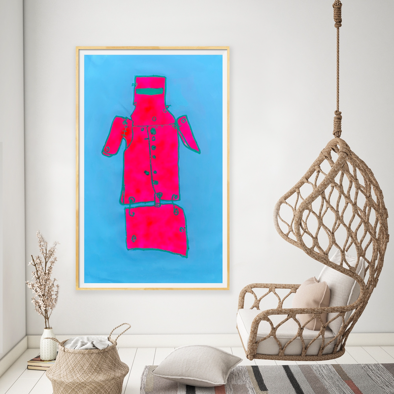 (CreativeWork) Ned  in Blue by Shane Bowden. Acrylic Paint. Shop online at Bluethumb.