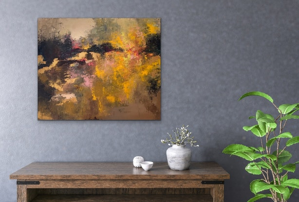 (CreativeWork) GLOAMING by Kristyna Dostalova. Oil Paint. Shop online at Bluethumb.