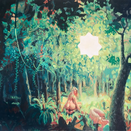 (CreativeWork) Dream Ceremony by Harry Hughes. Oil Paint. Shop online at Bluethumb.